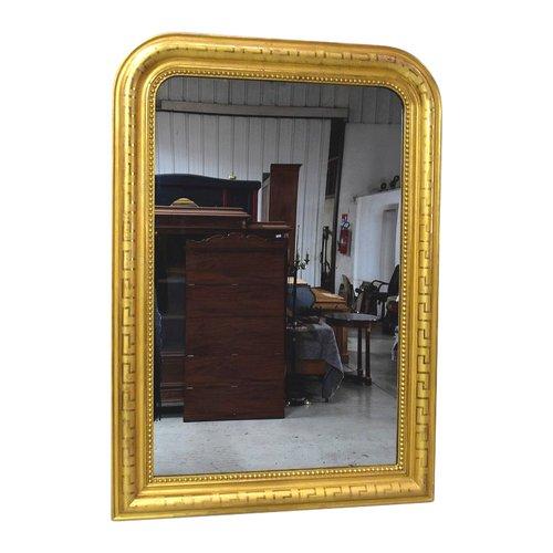 Miroir en Bois Doré à la Feuille, époque Louis Philippe – XIXe