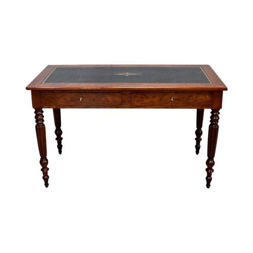 Cuban Mahogany Desk Table, Louis Philippe Period - Mid 19th Century