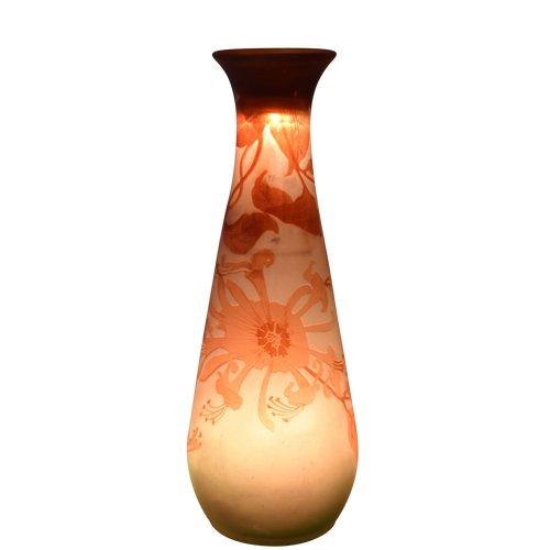 Emile Gallé - Conical vase - Multilayer acid-etched glass - France, circa 1920.