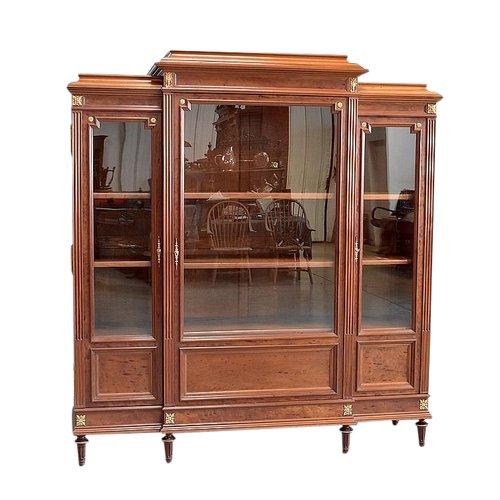 Bücherregal aus Mahagoni im Louis XVI-Stil - Ende des 19. Jahrhunderts
