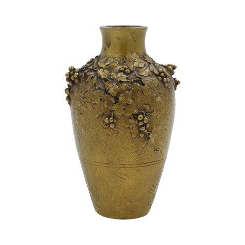 Louchet, Paris - Ovoide Vase im Jugendstil - Signiert - Vergoldete Bronze - Frankreich, um 1900.