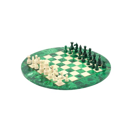 Malachite chess set
