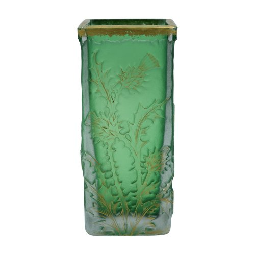 Daum - Golden thistles vase - Signed - Glass and gilding - France, circa 1892.