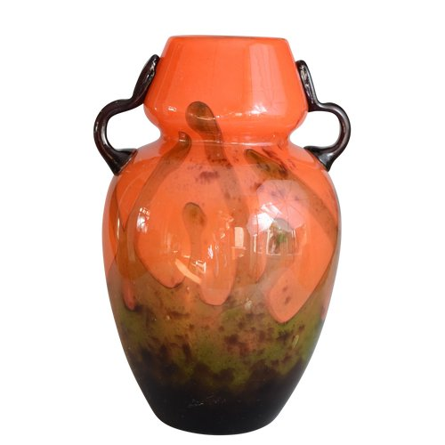 Charles Schneider - Art-Deco-Vase - Mehrschichtglas - Frankreich, um 1920.