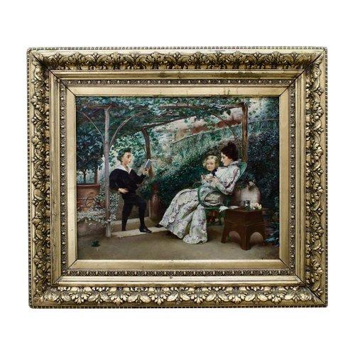 """Painting """"Recital"""" K.Stepanov (1854—1910)"""