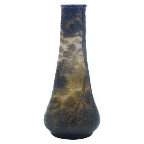 Devez, Camille Tutré de Varreux (1872/1942)  – Vase - Verre en camée gravé à l'acide – France, vers 1908/1910.
