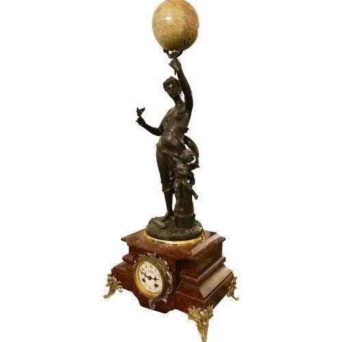 """Uhr """"La Terre"""" von Charles Anfrie und G Bertaux"""