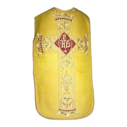Kasel aus vergoldetem Stoff und bedeutender Goldfadenstickerei aus dem 19. Jahrhundert