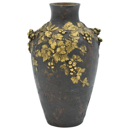 Louchet - Vase aus doppelter Patina aus Bronze