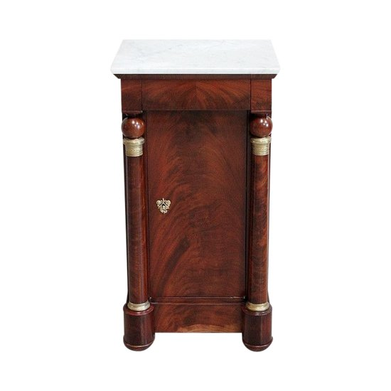 Nachttisch aus kubanischem Mahagoni-Furnier, Empire-Zeit - 1. Teil, 19. Jahrhundert