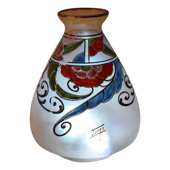 Joma – Vase Art Deco – Verre opalescent