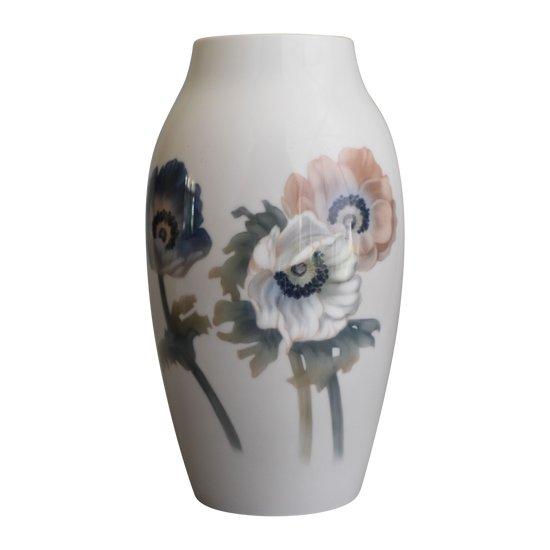 Bing&Grondahl - Vase ovoïde - Anémones