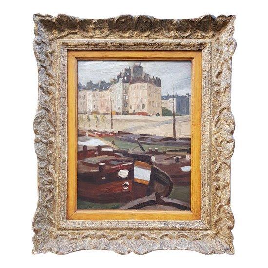 Quai de Seine by Gaston BALANDE 1880-1971