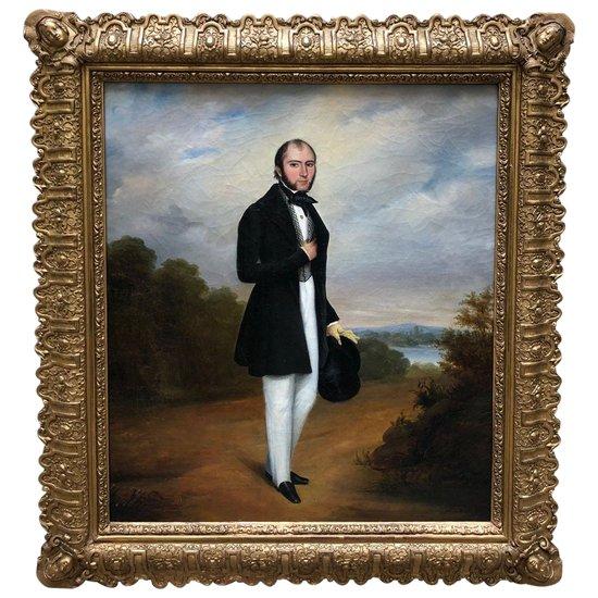 Portrait d'un gentleman, Ecole Anglaise