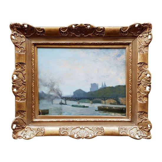 Notre dame et le pont des arts par Raoul ULMANN 1867-1941
