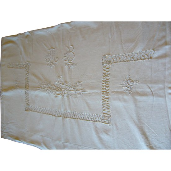 Old embroidered sheet