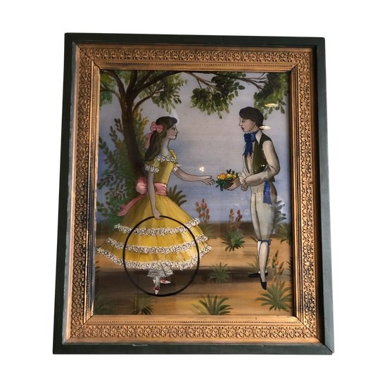 """Fixed under glass """"The loving couple"""""""