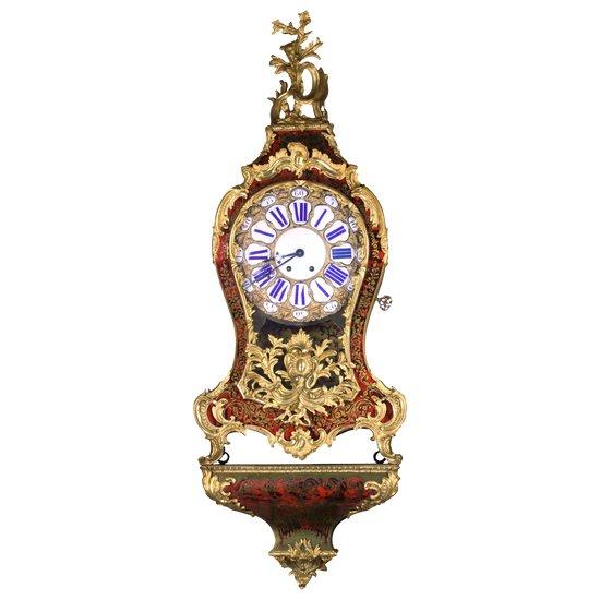 """Uhr im """"Boulle"""" -Stil des 19. Jahrhunderts."""