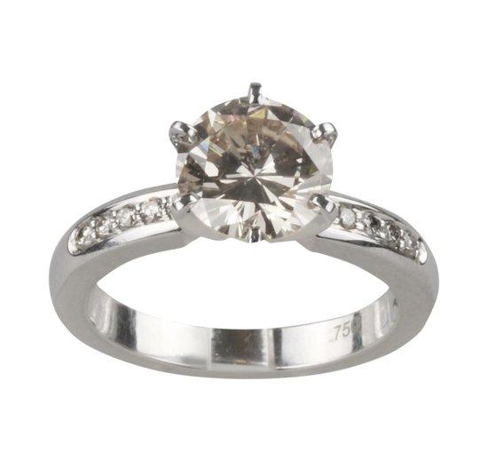Bague de fiançailles en diamant. 2,28ct