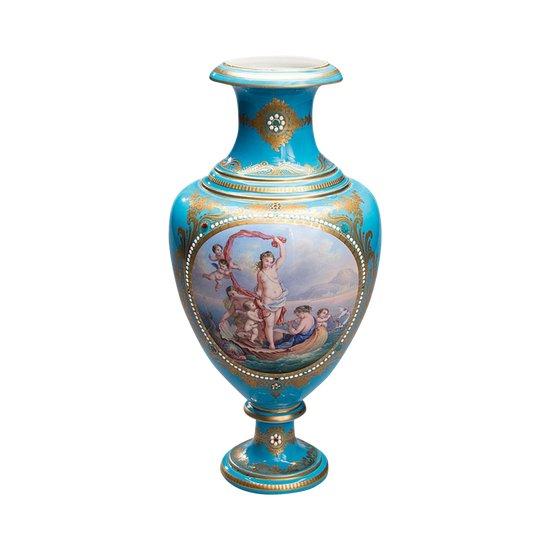 """Vase unique """"La Naissance de Vénus"""". Sevre"""