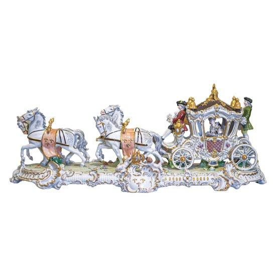 """Porcelain composition """"Calèche""""."""
