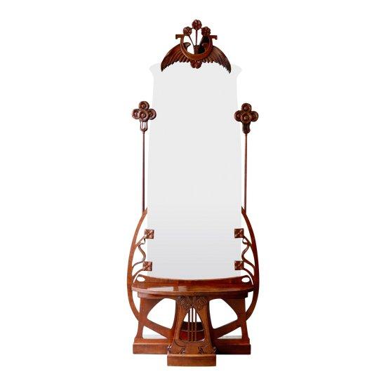 """Miroir au sol """"Jugendstil"""""""
