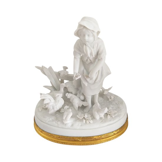 Figurine en biscuit RUDOLSTADT - VOLKSTEDT  en très bon état et remarquablement conservée