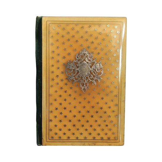 Ball Book - TAHAN - Boulle Intarsien, blonde Schildpatt eingelegt mit der Königin