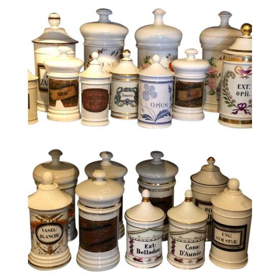 Pots à pharmacie 19ème siècle