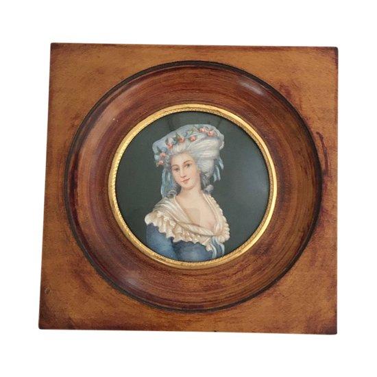 Miniature sur ivoire La Princesse de Lamballe