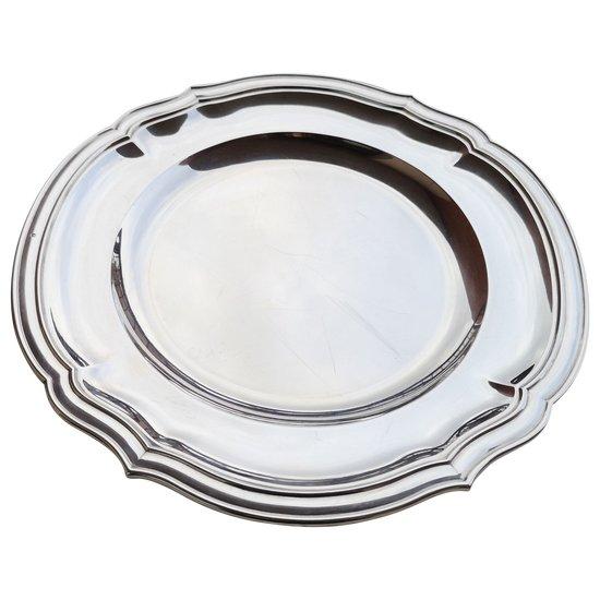 Runde und hohle Schale aus massivem Silberhalsband Orfèvrerie TETARD Frères (Ref. MA 0389)